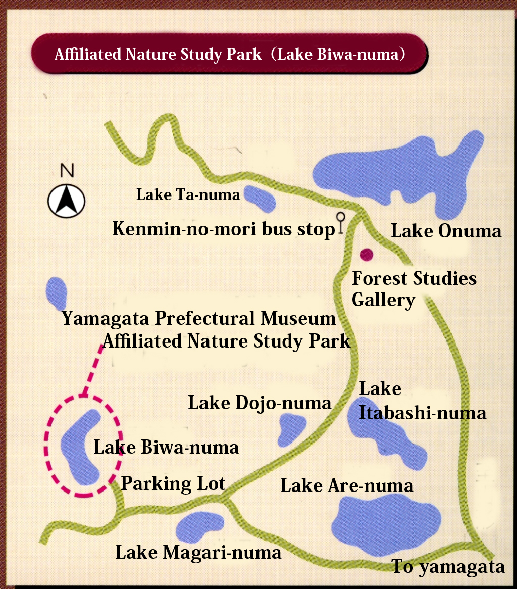 Map of the Affiliated Park for Nature Studies